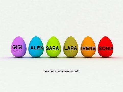 Uova segnaposto