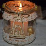 Candele Natalizie nei vasetti di vetro
