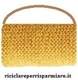 borsa di lana con manico