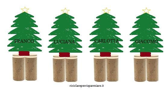Segnaposto Natalizi Alimentari.Come Riciclare Sughero Segnaposto Per Natale Ricicla Sughero
