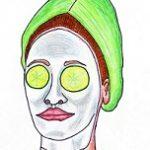 Maschera per la pelle con il riso