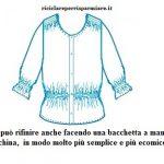 Una blusa da donna