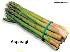 ASPARAGI per le polpette gamberi e asparagi