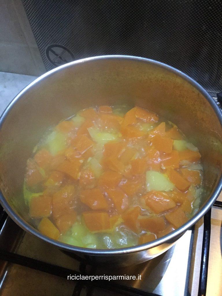 Zucca in cottura