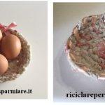 Cestini con uova lesse