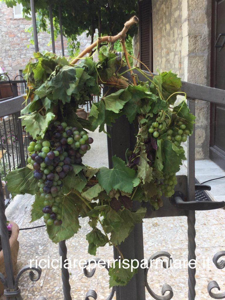 Ghirlanda con uva