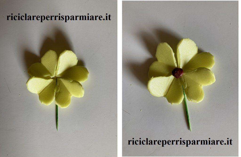 Fiore vaschetta gialla